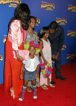 "Chris Rock and family arrive for the premiere of ""Madagascar 3"" in New York"