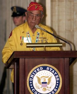 Congressional Gold Metals awarded to Navajo Code Talkers