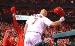 St. Louis Cardinals Matt Holliday hits home run