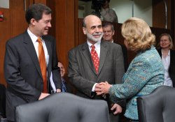 Chairman Ben Bernanke testifies on the economy in Washington