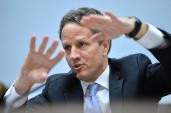 Treasury Secretary Timothy Geithner testifies on Capitol Hill in Washington