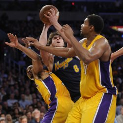 Los Angeles Lakers vs Denver Nuggets Game 2 NBA Western Conference Playoffs in Los Angeles