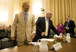Kevin Costner and Craig Paul Taffaro Jr testifies on the Deepwater Horizon oil spill in Washington