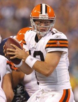Browns McCoy Scrambles Against Colts