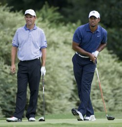 Woods and Harrington stand on 5th tee at 93rd PGA Championship