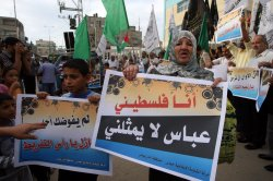 Palestinians Protest Against President Mahmud Abbas in Gaza