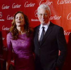 Diane Lane and Richard Gere arrive at the 24th annual Palm Springs International Film Festival in Palm Springs, California