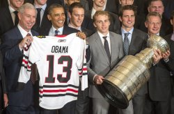 President Obama honors the 2013 Stanley Cup Chapions Chocag Blackhawks in Washington