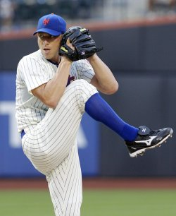 New York Mets starting pitcher Chris Capuano throws a pitch at Citi Field in New York