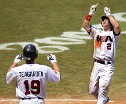 Japan vs USA in bronze medal baseball game in Beijing