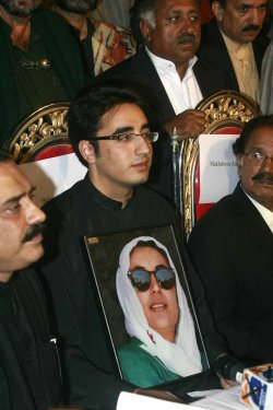BHUTTO's SON AND HUSBAND SELECTED TO TAKE OVER PPP IN PAKISTAN