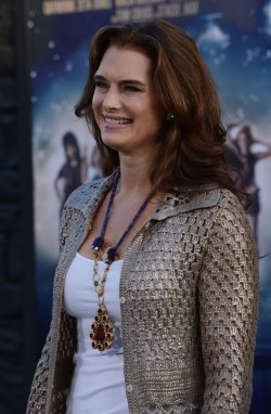 "Brooke Shields attends the ""Rock of Ages"" premiere in Los Angeles"