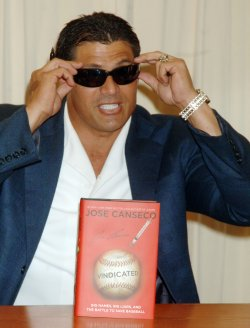 "Jose Canseco promos new book ""Vindicated"" in New York"