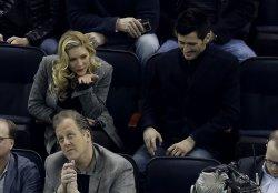 Natalie Dormer watches the New York Rangers in New York
