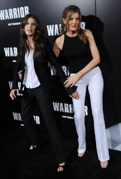 "Rene Russo and duaghter Rose Gilroy attend the premiere of ""Warrior"" in Los Angeles"