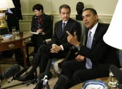 President Obama meets with Spanish Prime Minister Zapatero in Washington