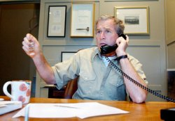Bush telephone call with Prince Abdullah