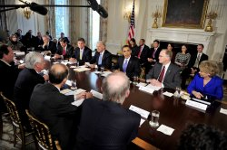 U.S. President Obama meets with bipartisan Governors group in Washington