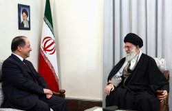Masoud Barzani meets with Iran's Supreme Leader in Tehran, Iran
