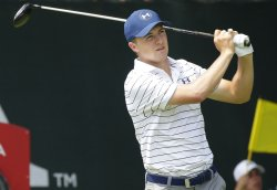 Jordan Spieth tees of on the first hole at the PGA