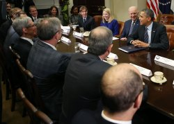 President Obama Vice President Biden Meet With Tech CEO's At The White House