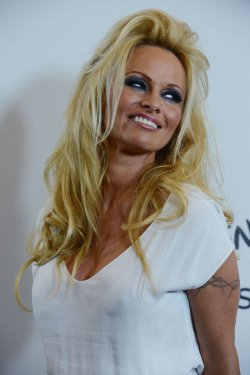 Pamela Anderson attends the Disney ABC Television Group Party in Beverly Hills