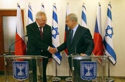 Israeli PM Netanyahu meets with Czech Republic's President Zeman in Jerusalem