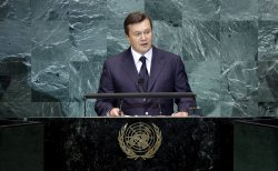 Ukraine's President Viktor Yanukovych at the 65th United Nations General Assembly at the UN in New York