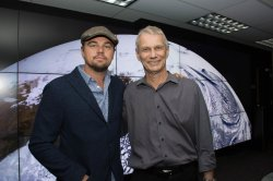 Leonardo DiCaprio visits NASA Goddard to discuss Earth science with Piers Sellers