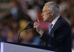 Senate Democratic Leader Harry Reid speaks at DNC