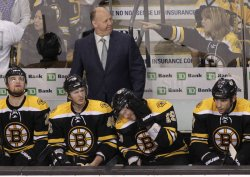 Bruins coach Claude Julien against Capitals at TD Garden in Boston, MA.