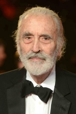 "Christopher Lee attends The Royal World Premiere of ""Skyfall"" in London"