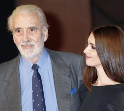 Christopher Lee and Paz Vega arrive at the opening of the 4th Rome International Film Festival