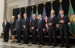 G-7 Finance Ministers meet at Treasury Department in Washington