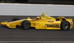 Helio Castroneves qualifies for the 98th running of the Indianapolis 500 at the Indianapolis Motor Speedway