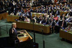 United States President Donald Trump at the United Nations