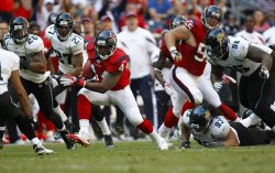 Houston Texans Running Back Ben Tate Rushes For a Gain at Reliant Stadium in Houston