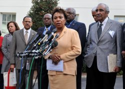 The Congressional Black Caucus meets with President Obama in Washington