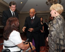 Montel Williams and Tammy Duckworth attend the USO 28th Annual Awards Dinner in Arlington, Virginia