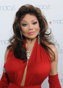 La Toya Jackson arrives at Macy's Passport Presents Glamorama in Los Angeles