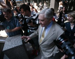 CONRAD BLACK ARRIVES AT FEDERAL COURT FOR BOND HEARING