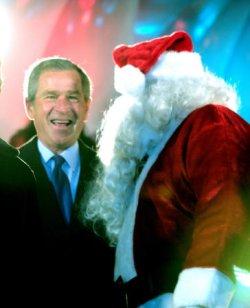BUSH LIGHTS THE NATIONAL CHRISTMAS TREE