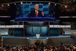 Vice President Joe Biden addresses delegates at the DNC convention in Philadelphia