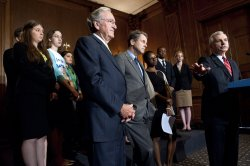 Senators speak on the Student Loan Bill in Washington