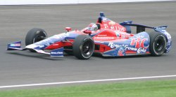 Marco Andretti tops 228 mph during Fast Friday at the Indianapolis Motor Speedway in Indianapolis, Indiana.
