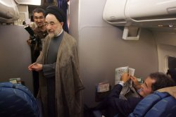 Iran's former President Seyyed Mohammad Khatami visits his birthplace