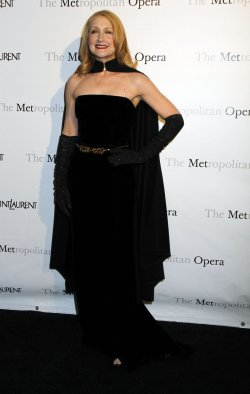 "Patricia Clarkson arrives for the Metropolitan Opera premiere of ""Manon"" in New York"