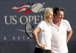 Jimmy Connors and Martina Navratilova at the U.S. Open Tennis Championships in New York
