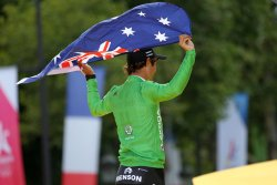 Michael Matthews wins green jersey at the Tour de France in Paris