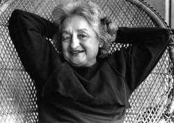 Feminist Betty Friedan celebrates her 65th birthday